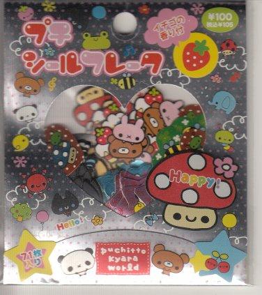 Kamio Happy Mushroom and Character Friends Sticker Sack