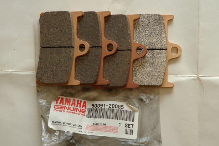 YAMAHA OEM 90891-20085 Brake Pad Set (4 pads) NEW