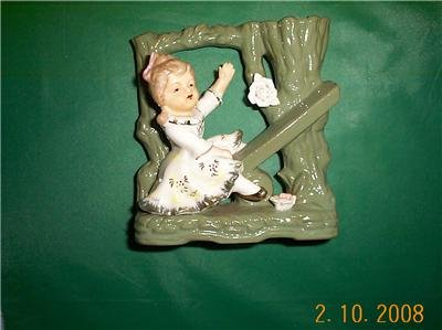 Adorable Little Girl figurine / bud vase