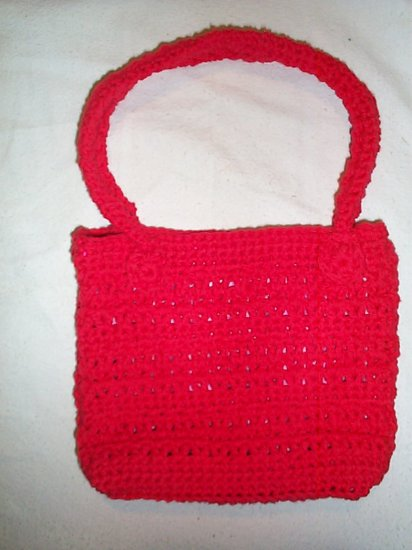 Hand crocheted 2 handle pocketbook
