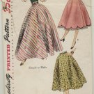 1952 Simplicity Circle Skirt VintageSewing Pattern #3881