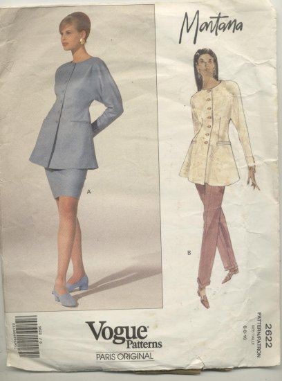 Vogue Paris Original Montana Sewing Pattern  #2622 Sizes 6-8-10