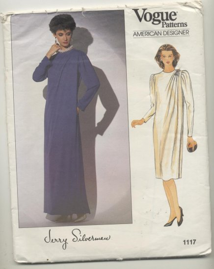 Vogue American Designer Calvin Klein Sewing Pattern Dress #1117 Sizes 16