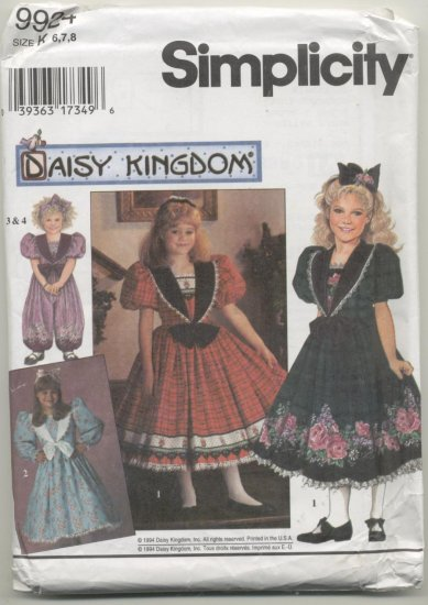 Daisy Kingdom Simplicity Sewing Pattern #9924 Sizes 6-8