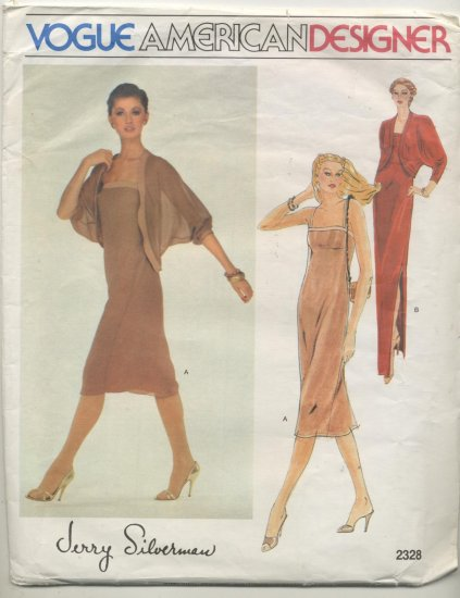 Vogue American Designer Jerry Silverman Sewing Pattern Jacket & Dress #2328 Size 10