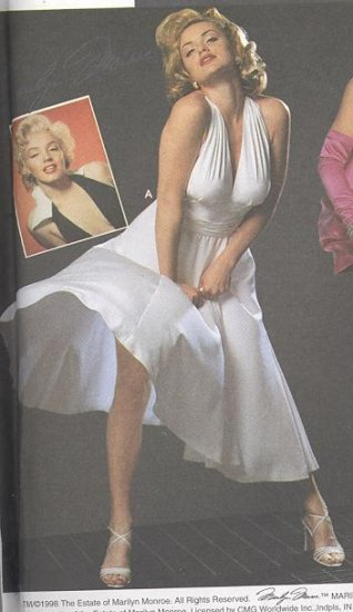 MARILYN MONROE Costume Halter Dress Sewing Pattern Simplicity #8393