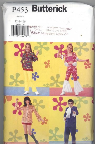 Austin Powers Hippie Boys and Girls Costumes Sewing Pattern Butterick P453