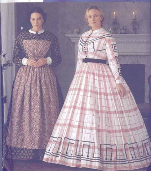 Simplicity Costume Pattern 7212 Martha McCain Civil War Dress Sizes 6-12