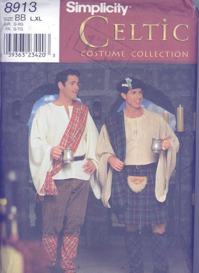 Mens Celtic Costume Simplicity Sewing Pattern 8913 Andrea Schewe