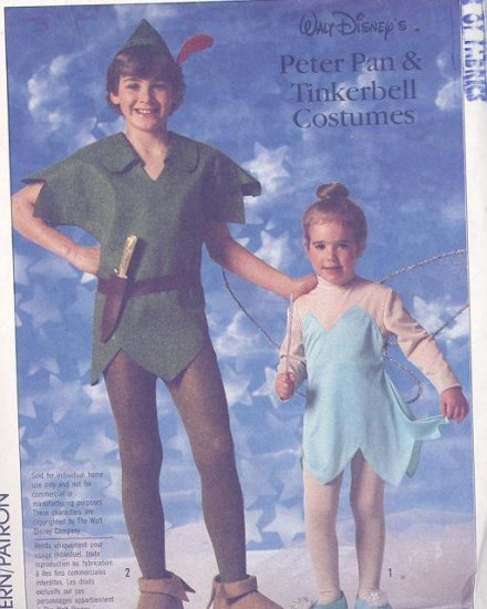 Adult Tinkerbell, Peter Pan Costume Sewing Pattern Simplicity 7784