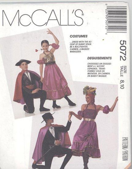Matador, Senorita, Carmen Miranda Costume Sewing Pattern McCall's 264