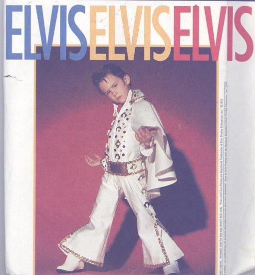 Elvis Child's Costume Sewing Pattern Simplicity 8646 White Jumpsuit, Cape