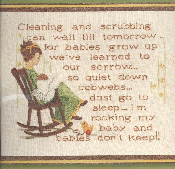 Babies Don't Keep Crewel Embroidery Kit 1977 Sunset Designs Lynn Davis