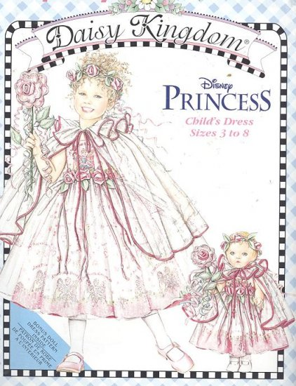 Disney Princess Dress Daisy Kingdom Simplicity Sewing Pattern 0695 Sizes 5,6,7,8 & Doll Outfit