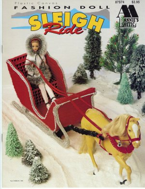 Annie's Attic Sleigh Ride Fashion Doll Plastic Canvas Needlepoint Pattern