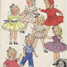 Shirley Temple Doll Vintage Sewing Pattern Advance 8813 Doll Wardrobe