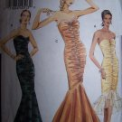 Vogue 8190 Evening Gown Flared Fishtail Gown