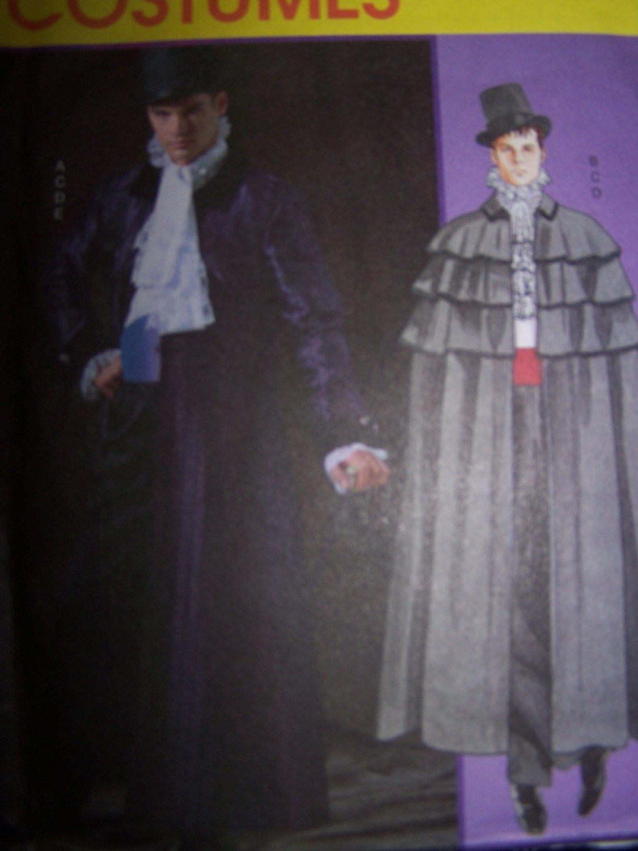 Gothic Victorian Frock Opera Coat Cape Pattern McCall's 4550 Mens Sm-Lg