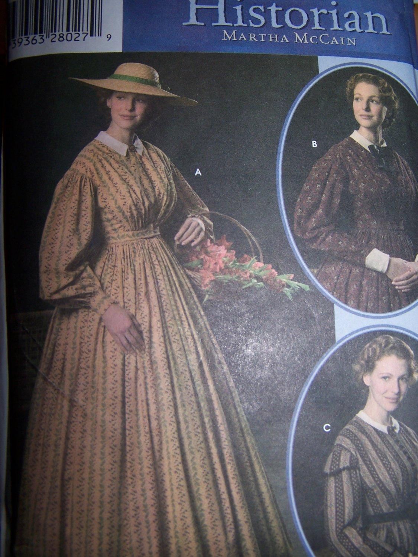 Civil War Day Dress Pattern Simplicity 4551 Womens 16-24