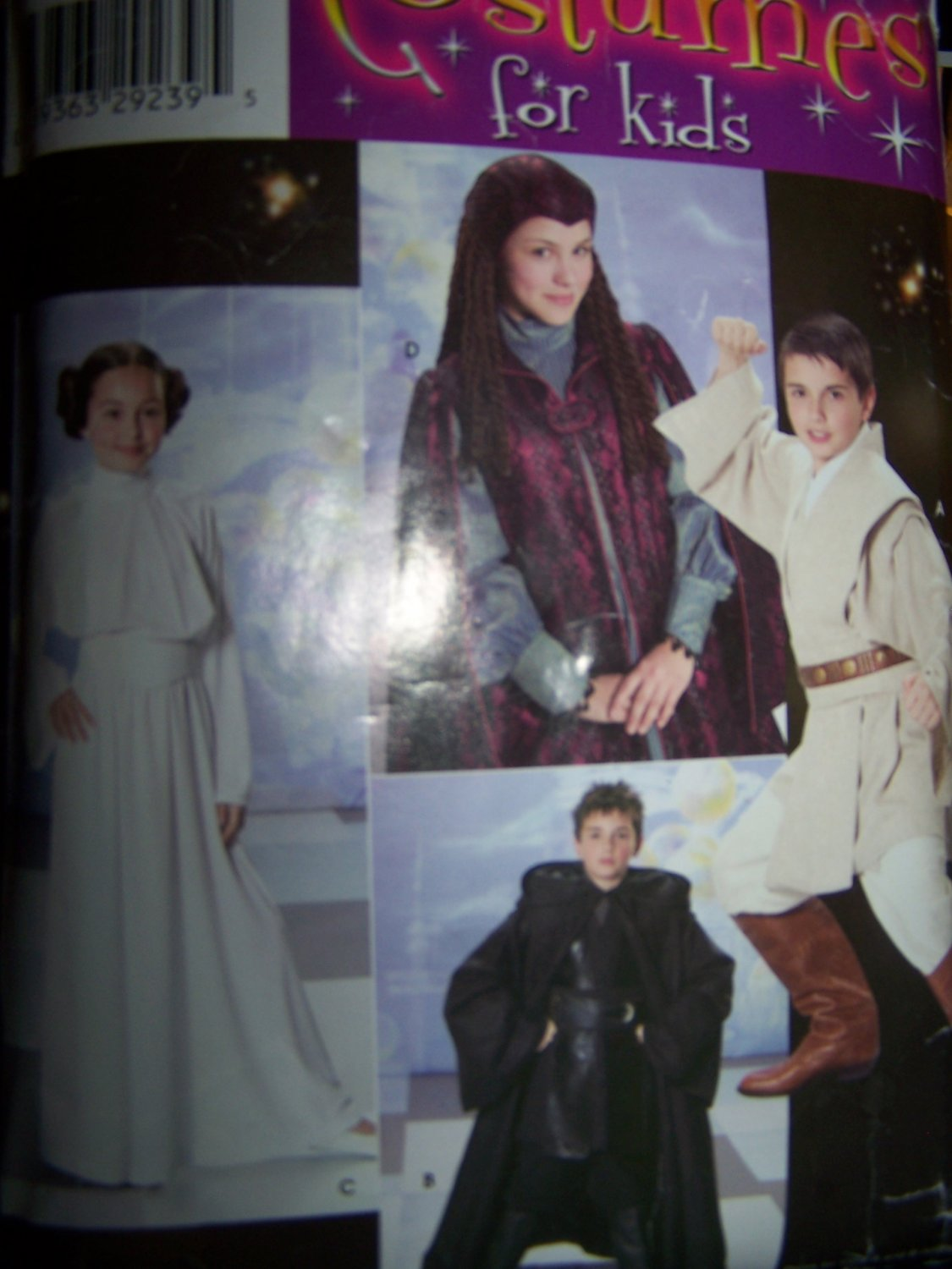 Star Wars Costume Pattern  Simplicity 4426 Princess Leia, Luke, Darth Vadar by Andrea Schewe