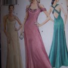 Bias Cowl Drape V Back Halter Dress Vogue Sewing Pattern 8242
