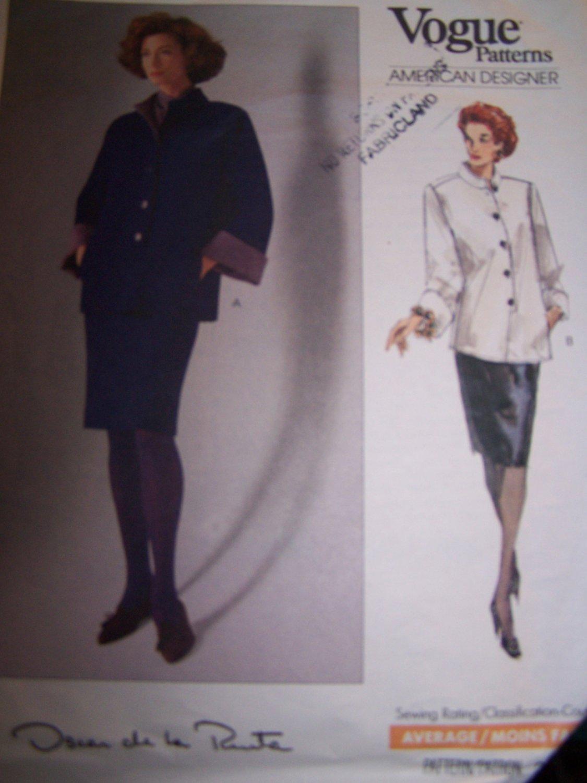 Oscar de la Renta Top, Skirt, Scarf Vogue Sewing Pattern 2396