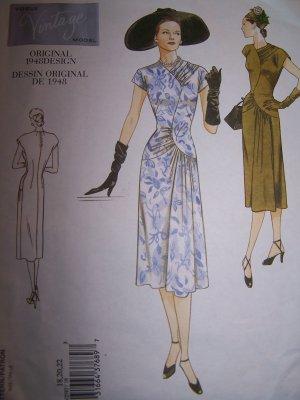 Vogue Vintage Original 2787 1948 Design Dress Sewing Pattern
