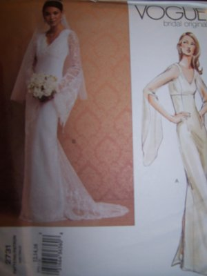 Vogue 2731 Bridal Original Sewing Pattern Sizes 18, 20, 22