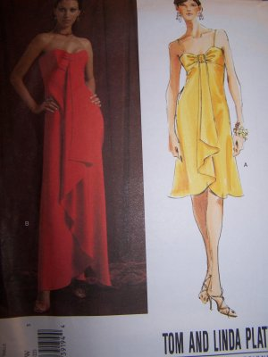 2847 Vogue American Designer Tom & Linda Platt Sewing Pattern Dress Sizes 18-22