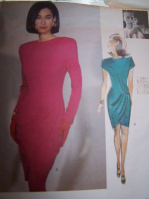 Tom & Linda Platt Vogue Sewing Pattern 2773 Pleated Overlay Dress Sizes 8-12
