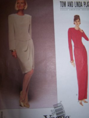 Tom & Linda Platt Vogue Sewing Pattern 1708 Dress with Pleated Skirt  Sizes 6-10