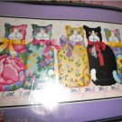 Bucilla Chintz Cats by Barbara Baatz Needlepoint Kit