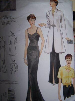 Vogue Vintage Original 2859 1935 Design Dress Sewing Pattern sizes 18-22