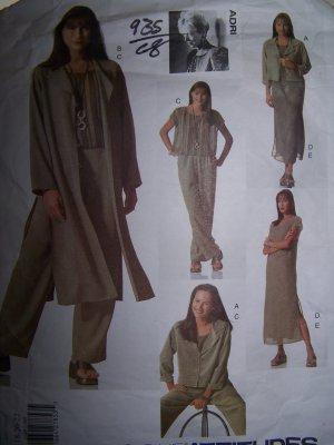 Adri Jacket, Duster, Dress, Top, Slip Vogue Sewing Pattern 2148 sizes 18-22