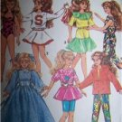 "Simplicity Sewing Pattern 7600 Doll Wardrobe for Skipper & Other 10"" Dolls"