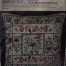 Smithsonian Institution Jacobean Crewel Embroidery Pillow Kit  Vintage Mazaltov Needlework Kit
