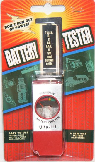 ULTA-LIT PRECISION BATTERY CHECKER / TESTER AA AAA C D 9V N and Button Cells - NEW!