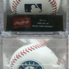 2002 SEATTLE MARINERS 25th ANN. RAWLINGS BASEBALL w HARD PLASTIC CLEAR BOX- NIB + FS