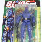 GI JOE COBRA COMMANDER ACTION FIGURE 2003 VALOR VS VENOM - MOSC HTF RARE