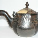 WINE GRAPE & LEAF DECORATIVE METAL TEA POT - NEW + FREE SHIPPING!
