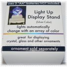 Silver LED Light Up Display Stand - NIB + FREE SHIPPING!