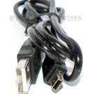 "USB CABLE 60"" Type A to MINI 5 PIN / AM-MINI - FOR CAMERA PHONE MP3 -BLACK- *BULK* + FREE SHIPPING!"
