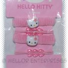 Hello Kitty - PINK HAIR PONY TAIL HOLDERS - SET OF 4  - NIP & FREE SHIPPING!