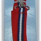 Dog Leash 47 in x .6 in - Red White & Blue - NIP & FREE SHIPPING!
