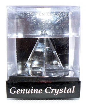 My Treasure Classic Crystal Sail Boat Genuine Crystal Sailboat - NIB + FREE SHIPPING