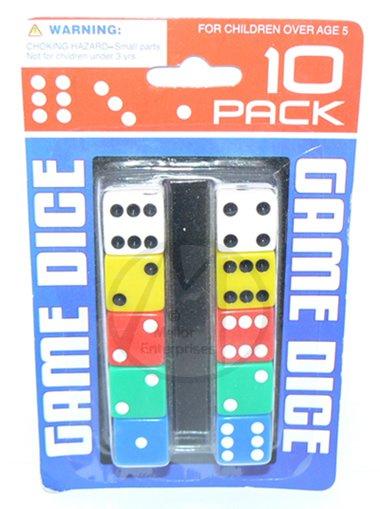NEW 10 Party Casino Game RPG Bunco Bunko Dice Set Multi Color + FREE SHIPPING