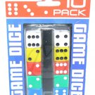 NEW 10 Party Casino Game RPG Bunco Bunko Dice Set Multi Color + FREE SHIPPING