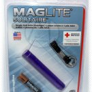 Maglite K3A986 Solitaire Flashlight Purple Hanging Pack - NIP & FREE SHIPPING