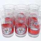 Coca-Cola 6 Glasses Bistro Coke Set 16oz Coke Coca Cola - HTF VINTAGE + FREE SHIPPING