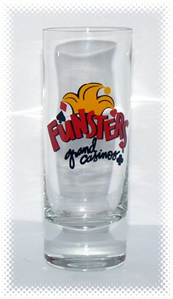 Funsters Grand Casino Shot Glass - VINTAGE + FREE SHIPPING